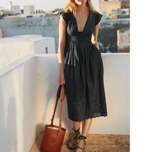 Madewell night breeze dress black• in high demand